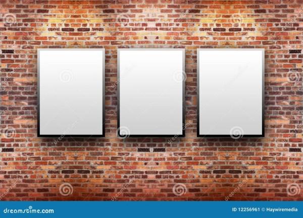 Brick Wall Art Gallery Display