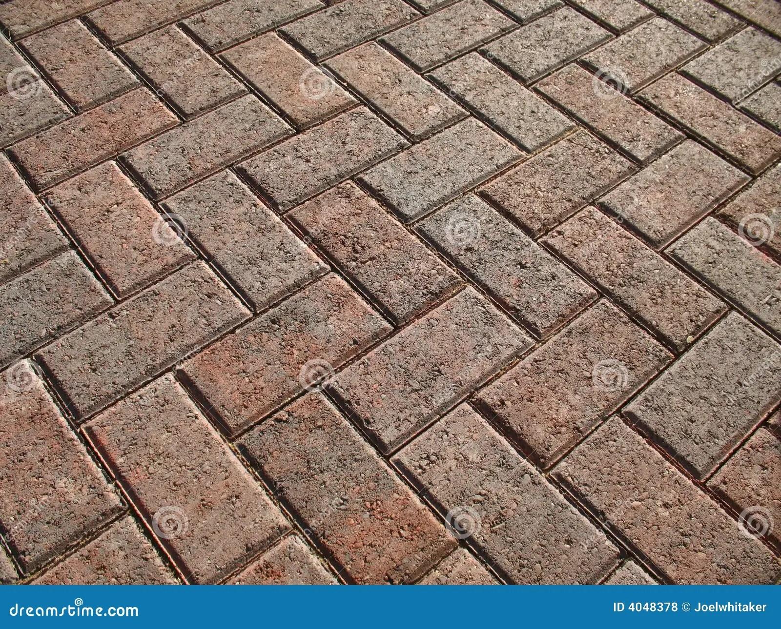brick paver landscape stock