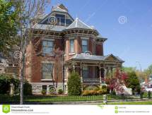 Brick Victorian Home Stock Of House
