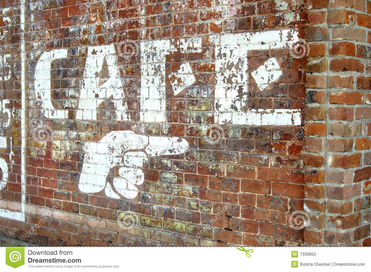 Brick Wall In Downtown Ft Smith Stock Image  Image 7339955