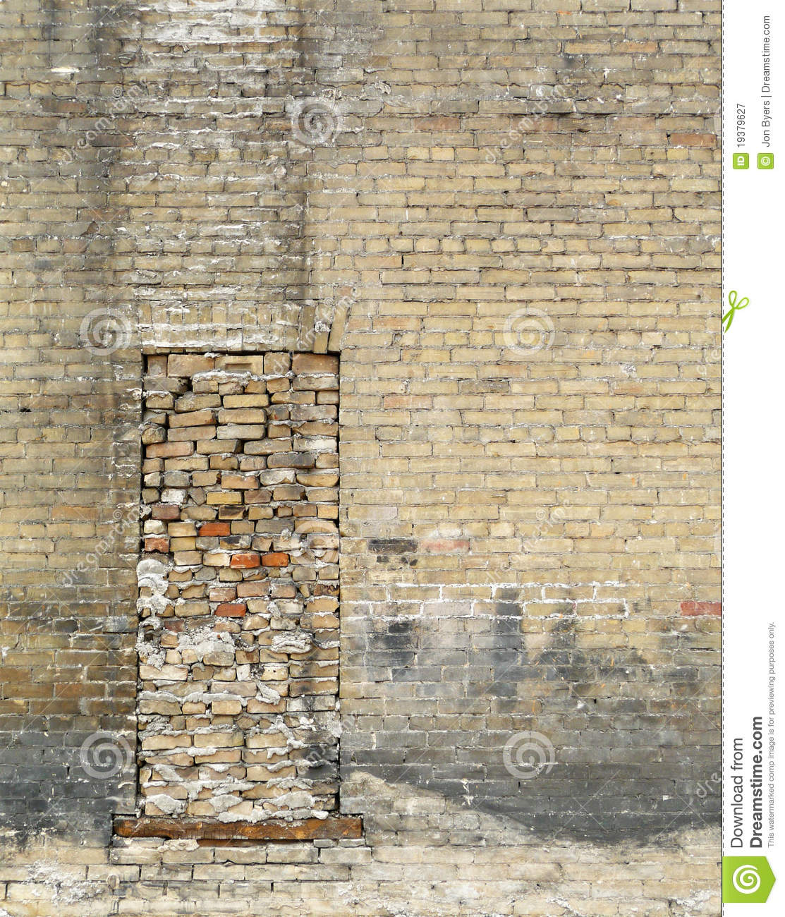 Bricked Up Window With Grunge Brick Wall Royalty Free Stock Photography  Image 19379627