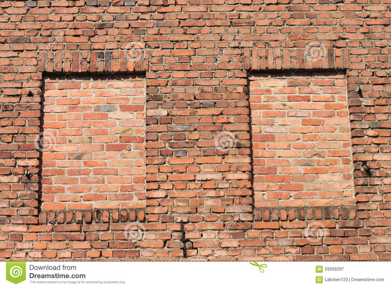 Two bricked window stock image Image of external destroyed  59269297
