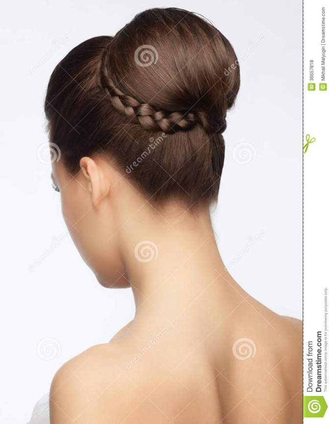 bridal hairstyle stock photo. image of gorgeous, attractive