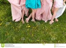 Barefoot Bride and Bridesmaids