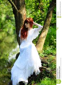 Bride In Forest Stock - 15506160
