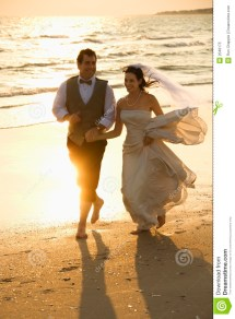 Beach Bride and Groom Clip Art