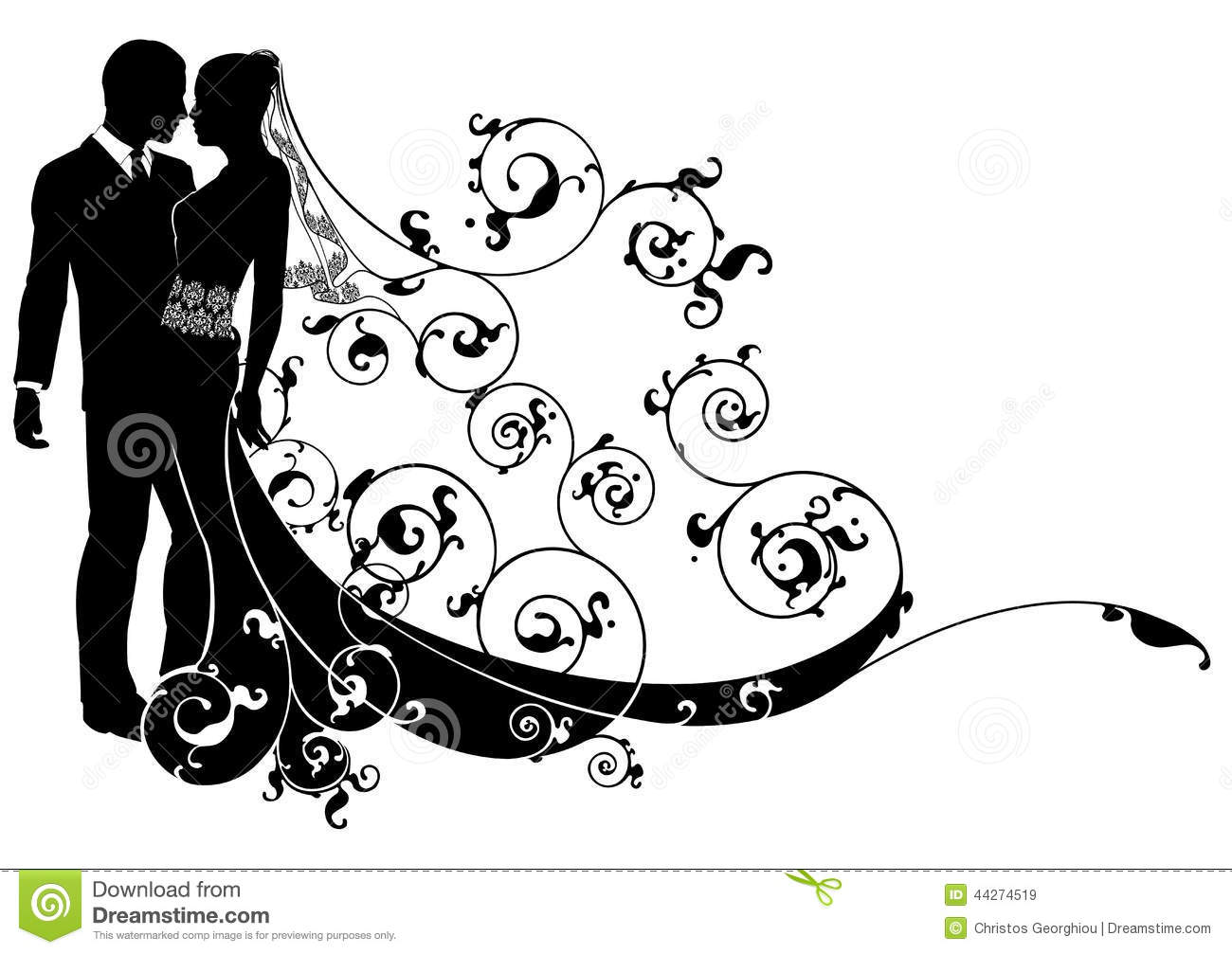 Bride And Groom Concept Stock Vector Illustration Of