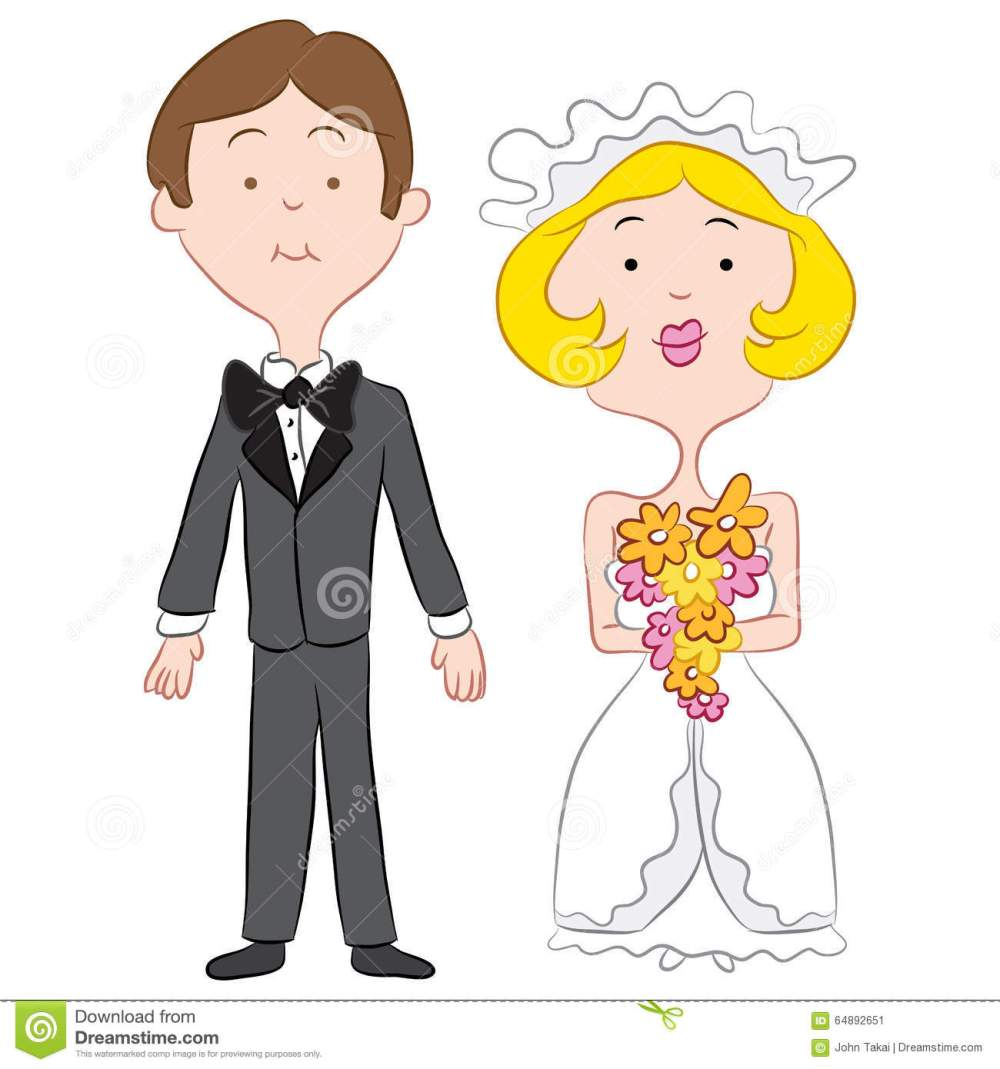 medium resolution of an image of a bride and groom