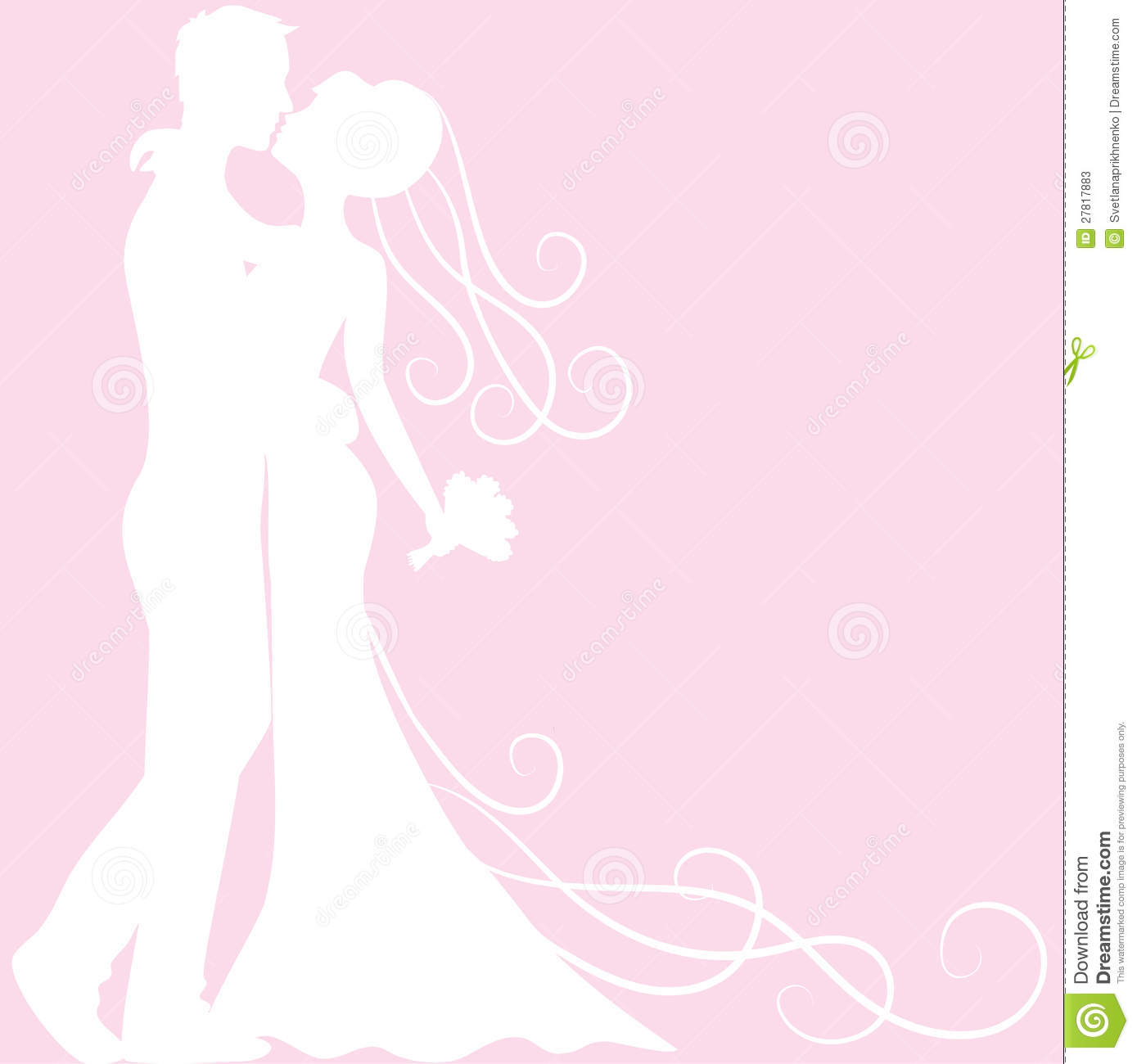 Bridal Girl Wallpaper Bride And Groom Silhouette Stock Photos Image 27817883