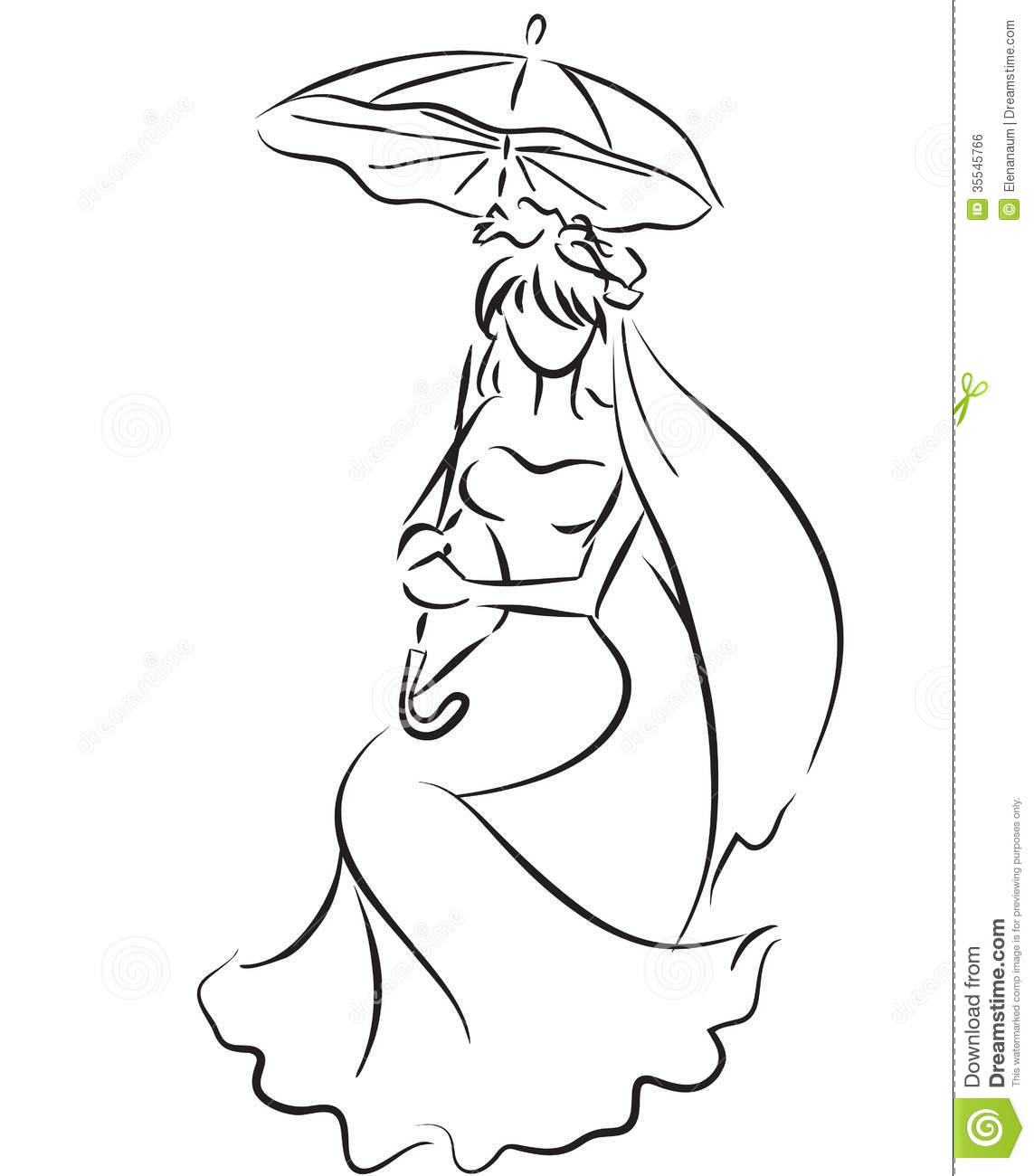 Bride With Umbrella Royalty Free Stock Image