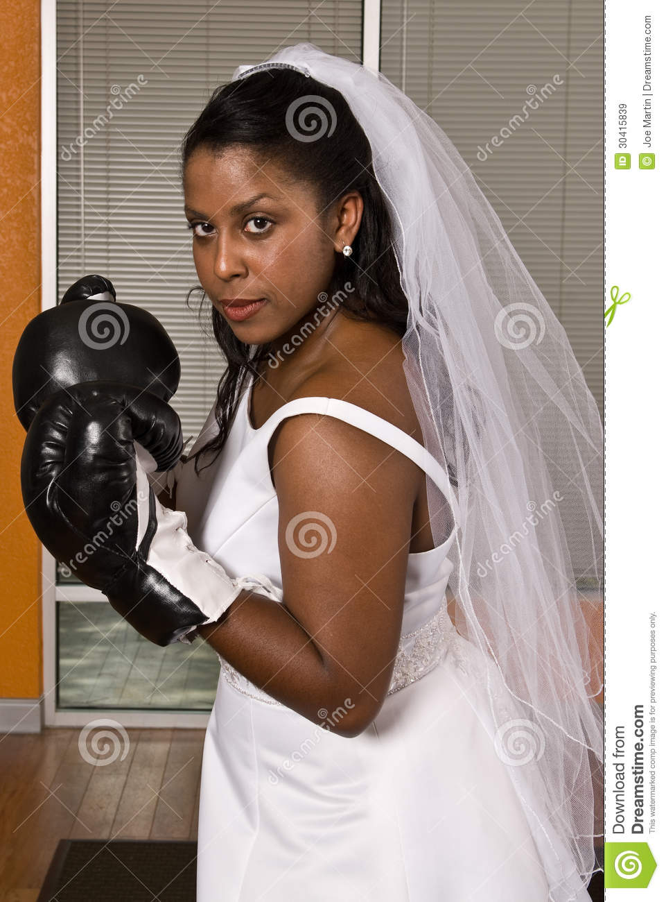Bride Wearing Boxing Gloves Stock Image  Image 30415839