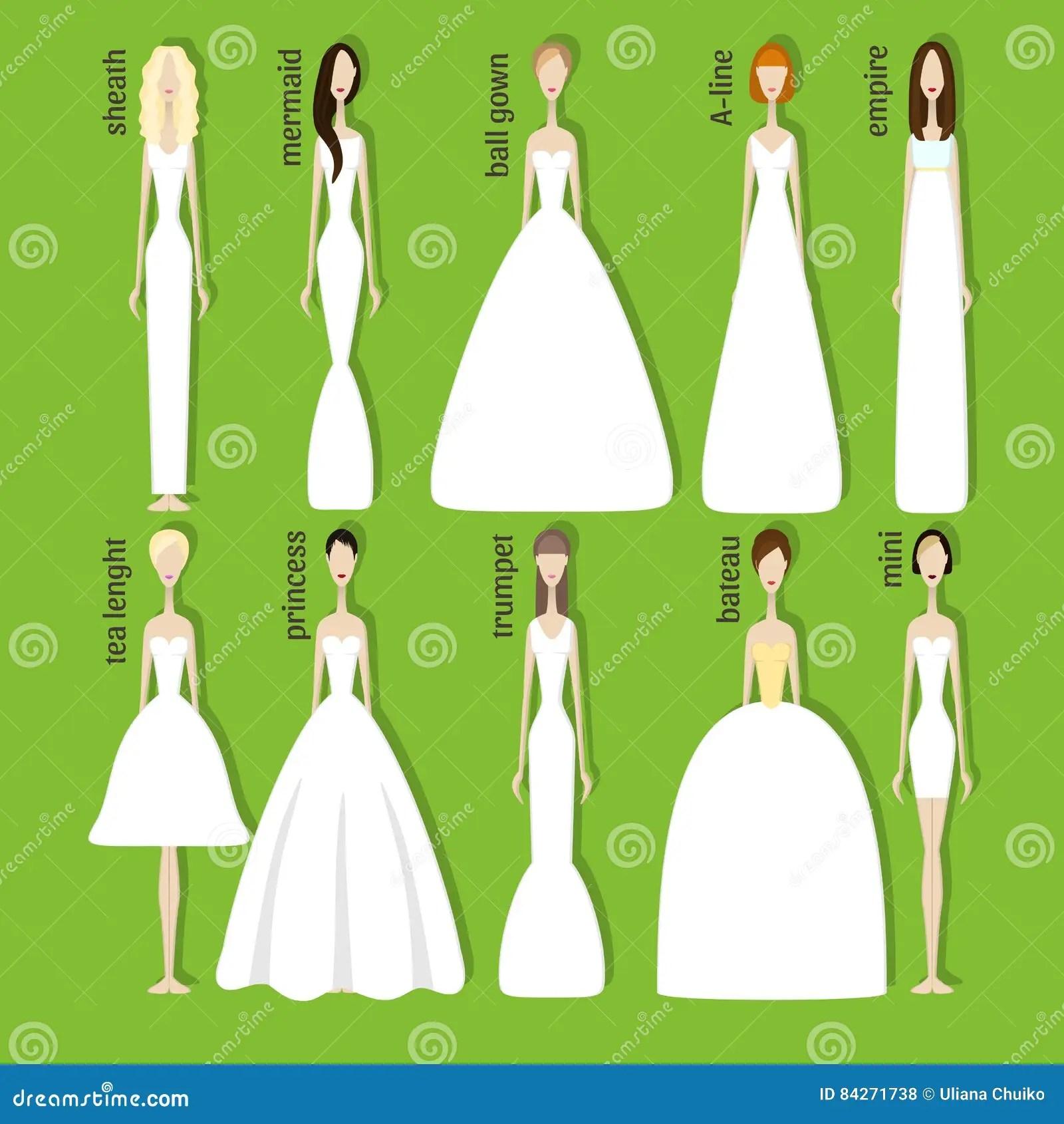 brides in different dresses