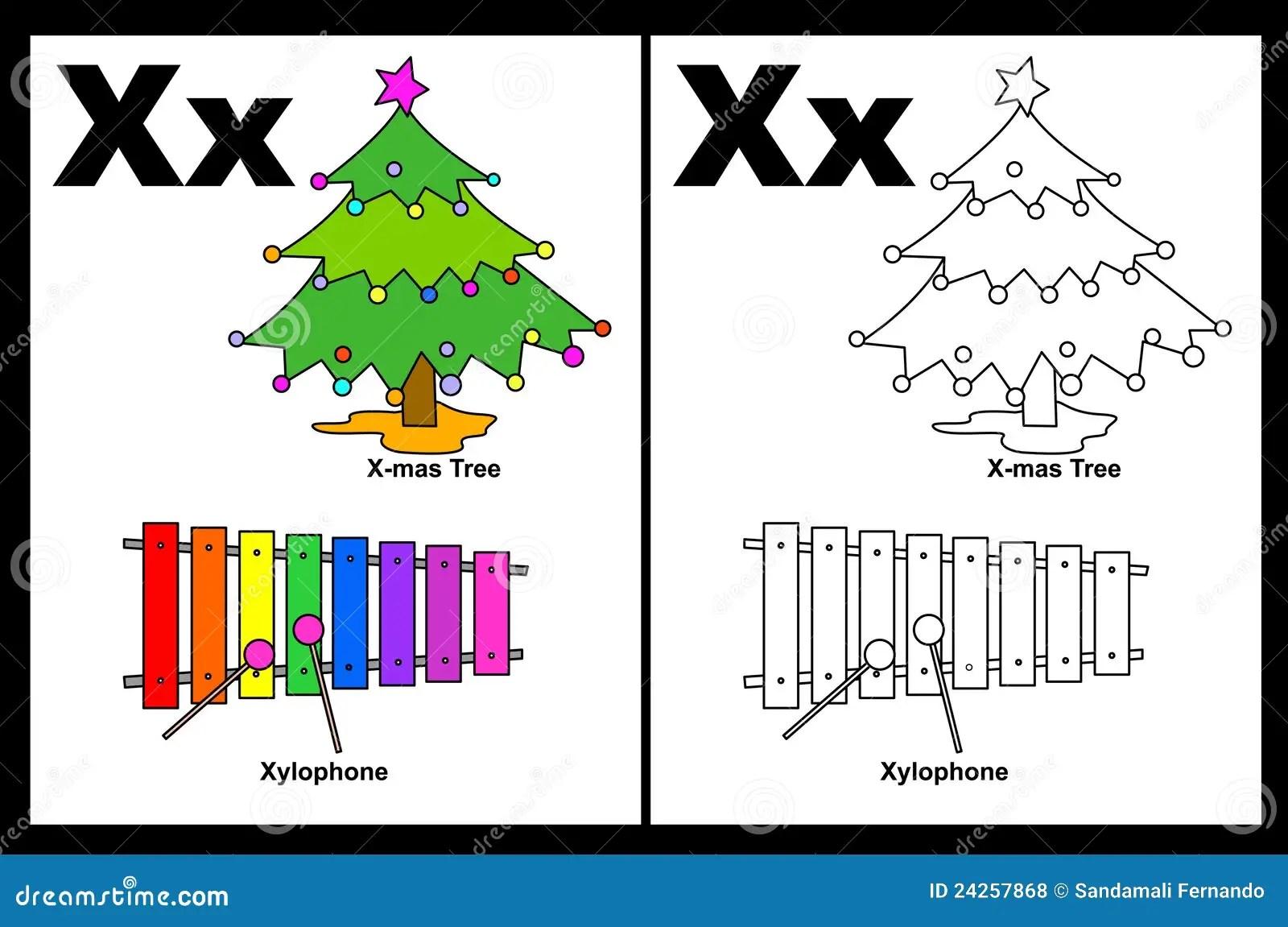Brief X Aantekenvel Vector Illustratie Illustratie
