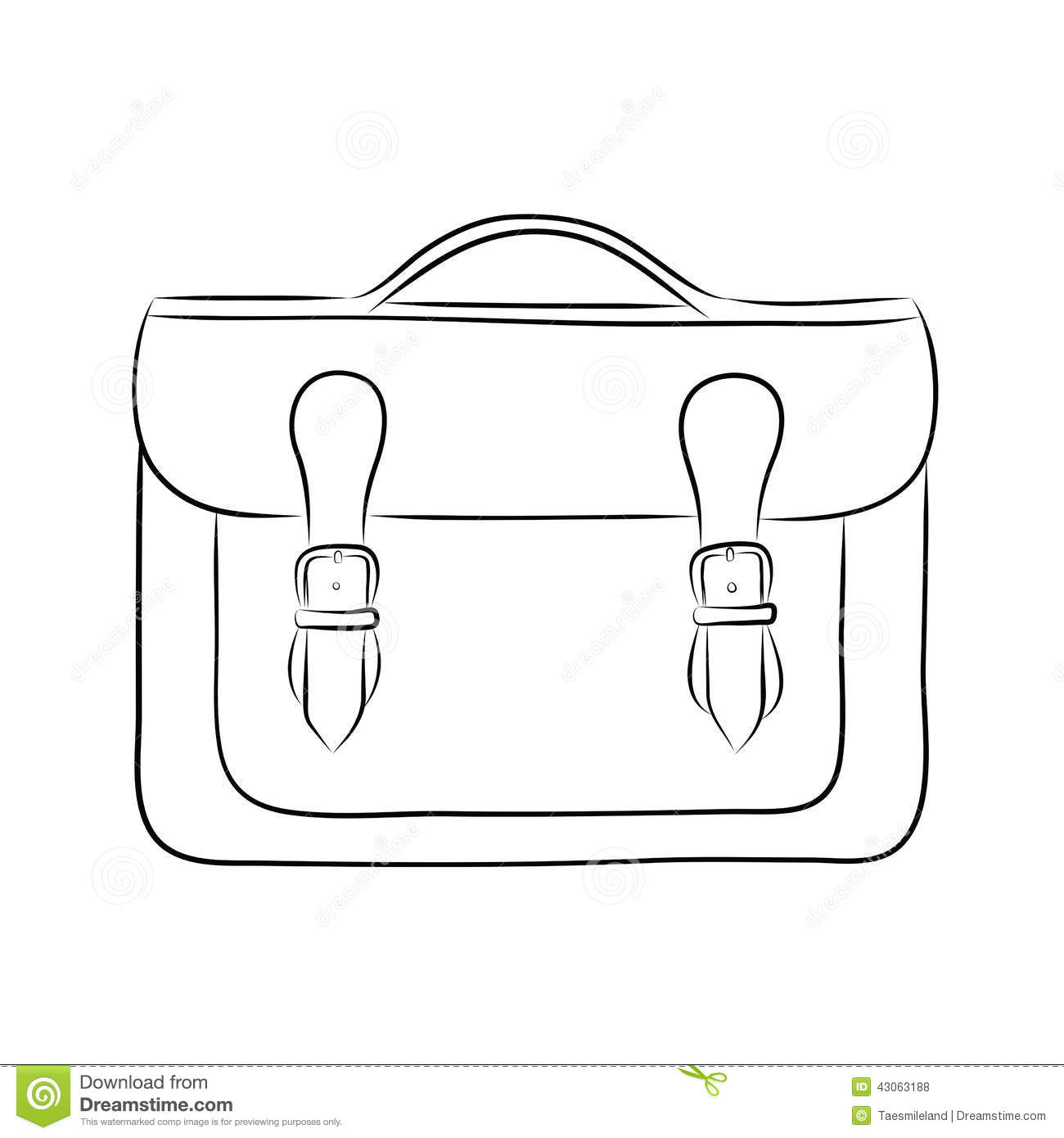 Briefcase Drawing Stock Vector