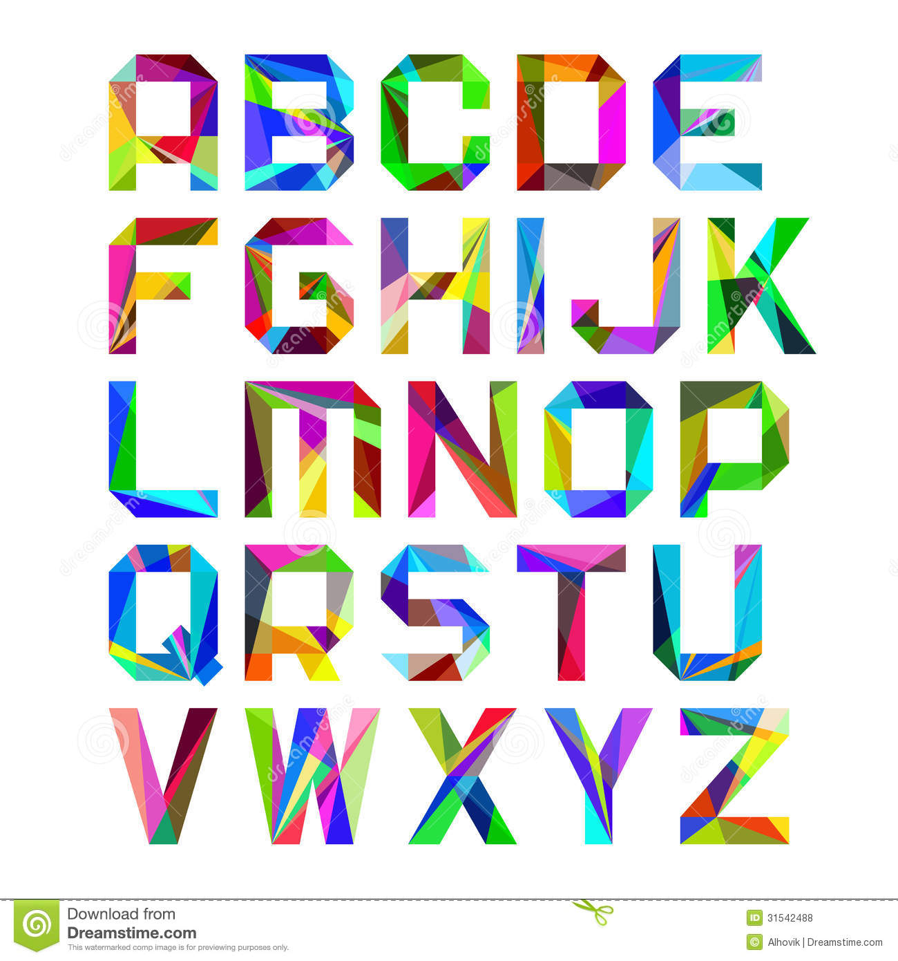 Bright Alphabet Letters Royalty Free Stock Photos