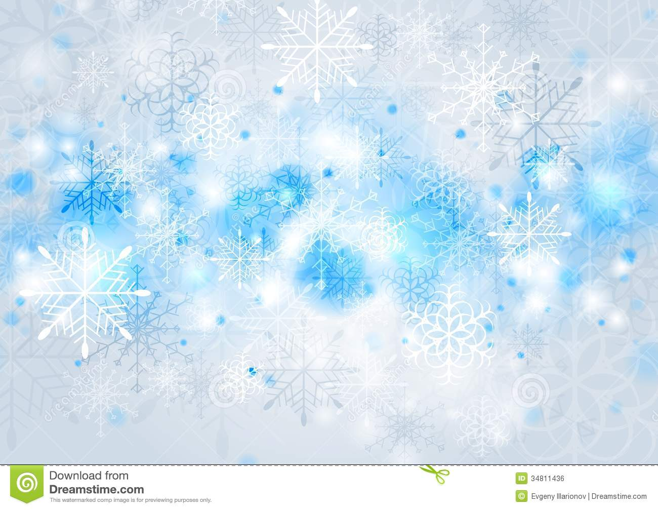 Bright Blue Vector Christmas Background Royalty Free Stock