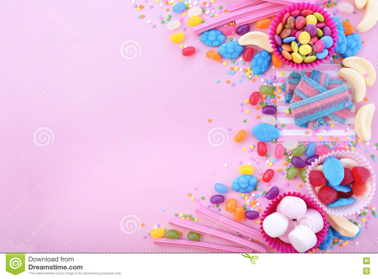 Bright Colorful Candy Background Stock Photo  Image of