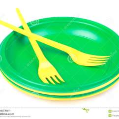 Colorful Kitchen Accessories Cabinets Melbourne Fl Bright Green And Yellow Plastic Disposable Tableware ...