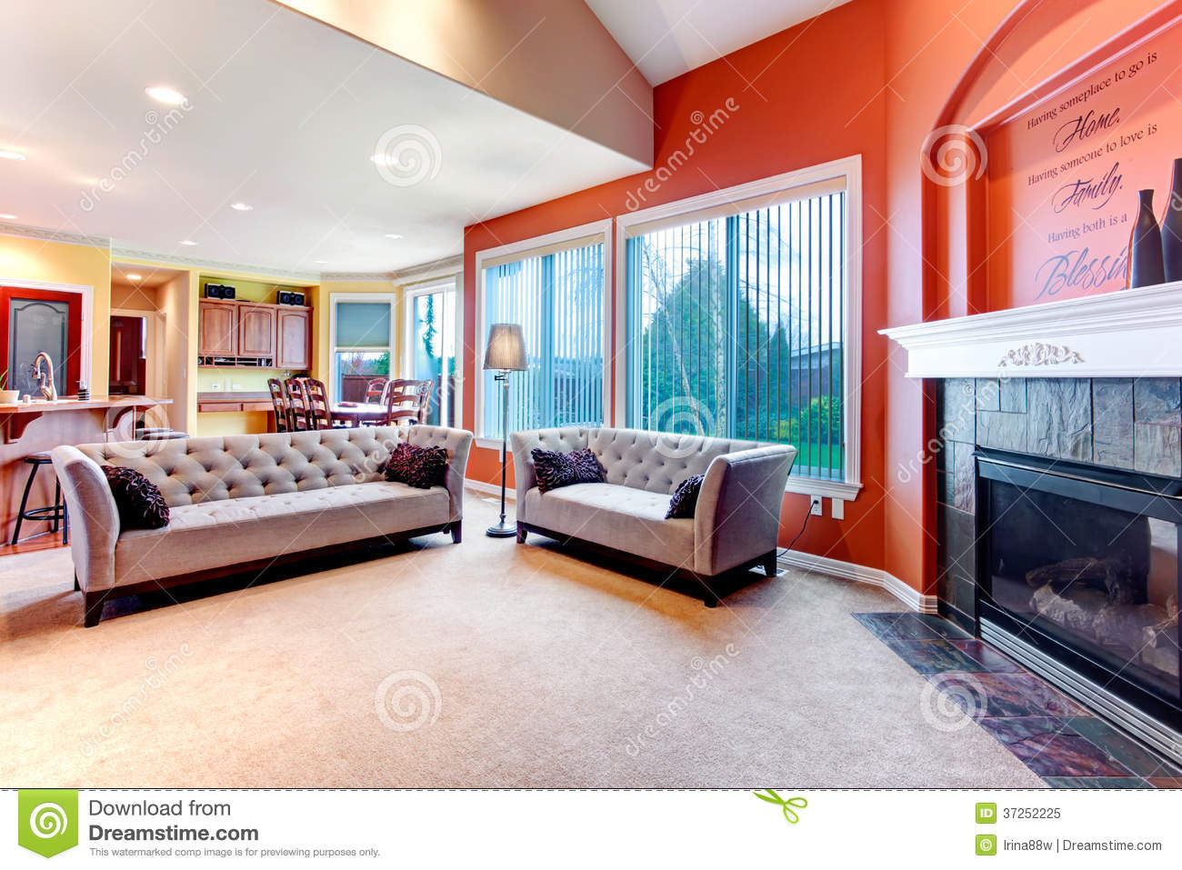 bright orange color scheme