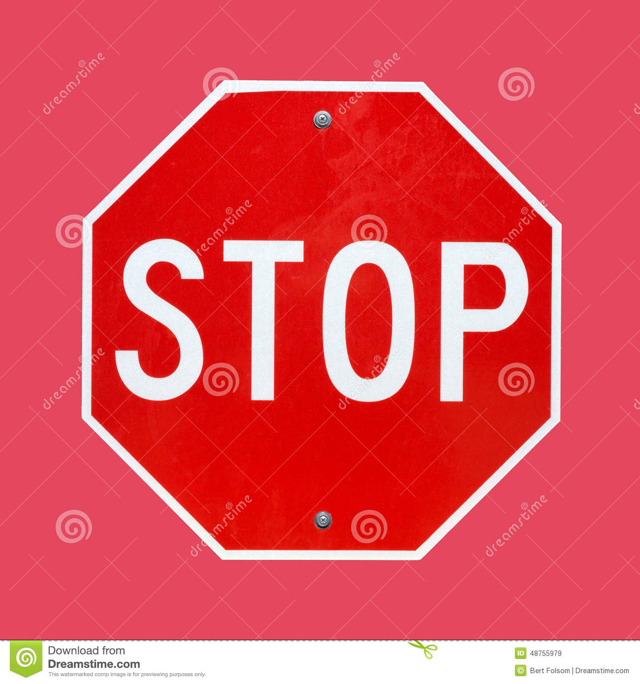 Bright Stop Sign On A Red Background Stock Photo  Image