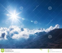 Bright Sun In Sky Royalty Free Stock