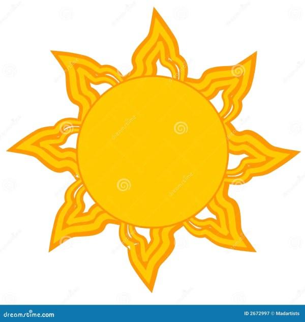 bright yellow sun clip art royalty