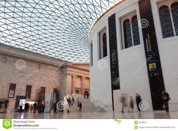 British Museum And Roof Detail Editorial