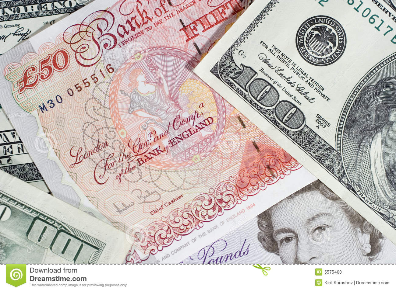 British pounds and dollars editorial image. Image of dollar - 5575400