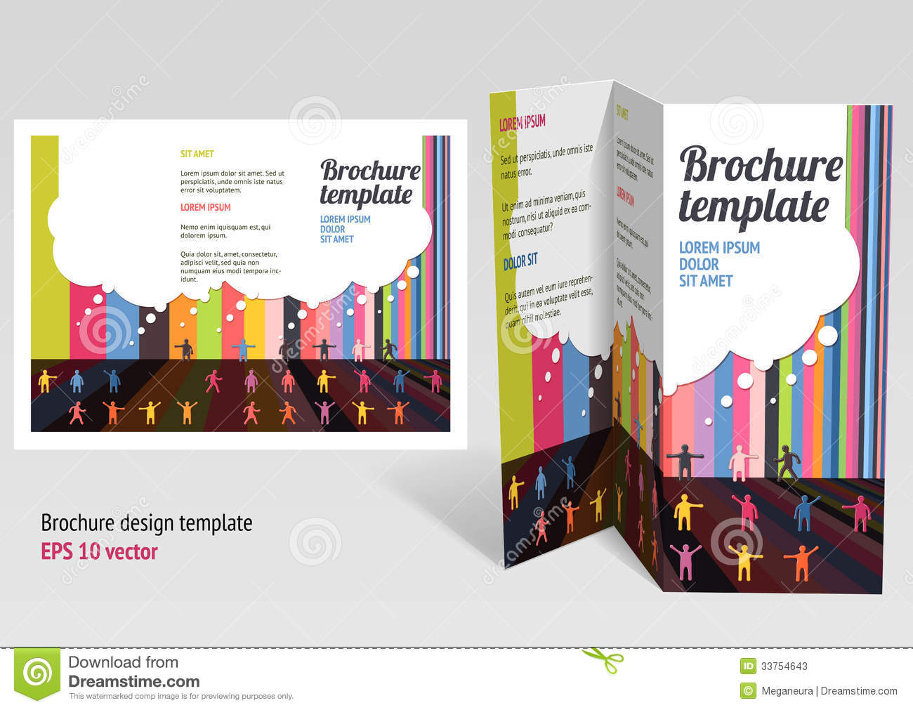 Brochure Booklet Z Fold Layout Editable Design T Stock