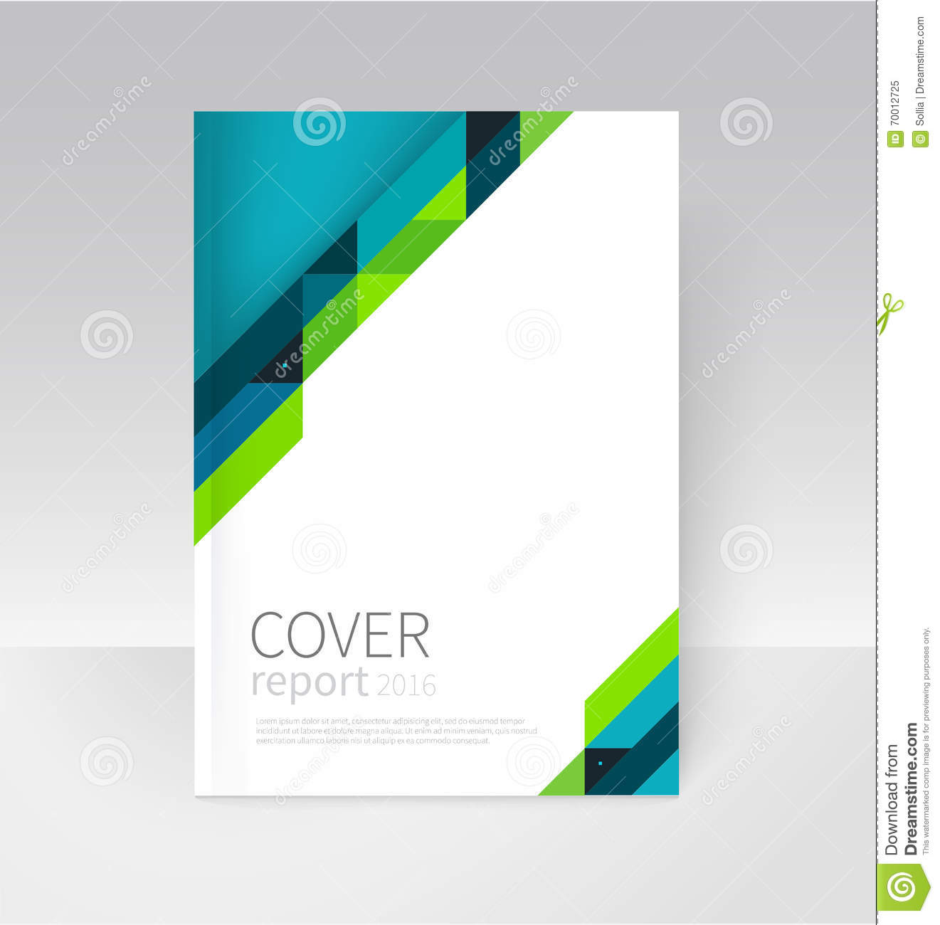 Brochure Flyer Poster Annual Report Cover Template Stock Vector  Illustration of concept