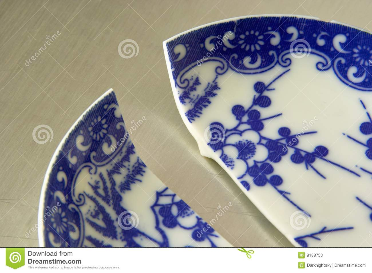 Broken China Stock Image Image Of Blue Hotel Half