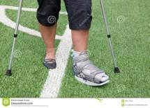 Broken Foot On Crutches