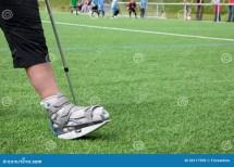 Broken Foot On Crutches