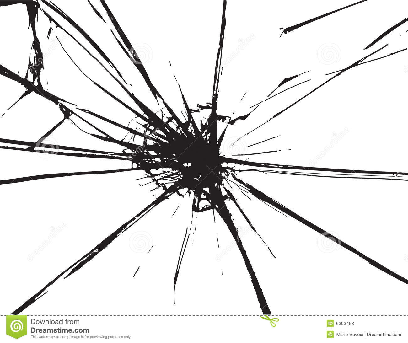 hight resolution of broken glass
