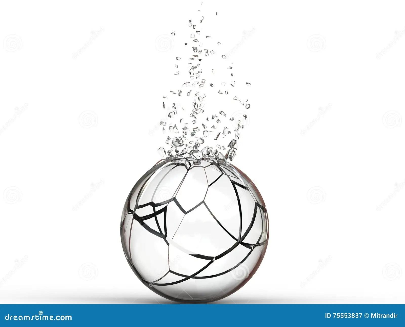 Broken Glass Ball Stock Illustration