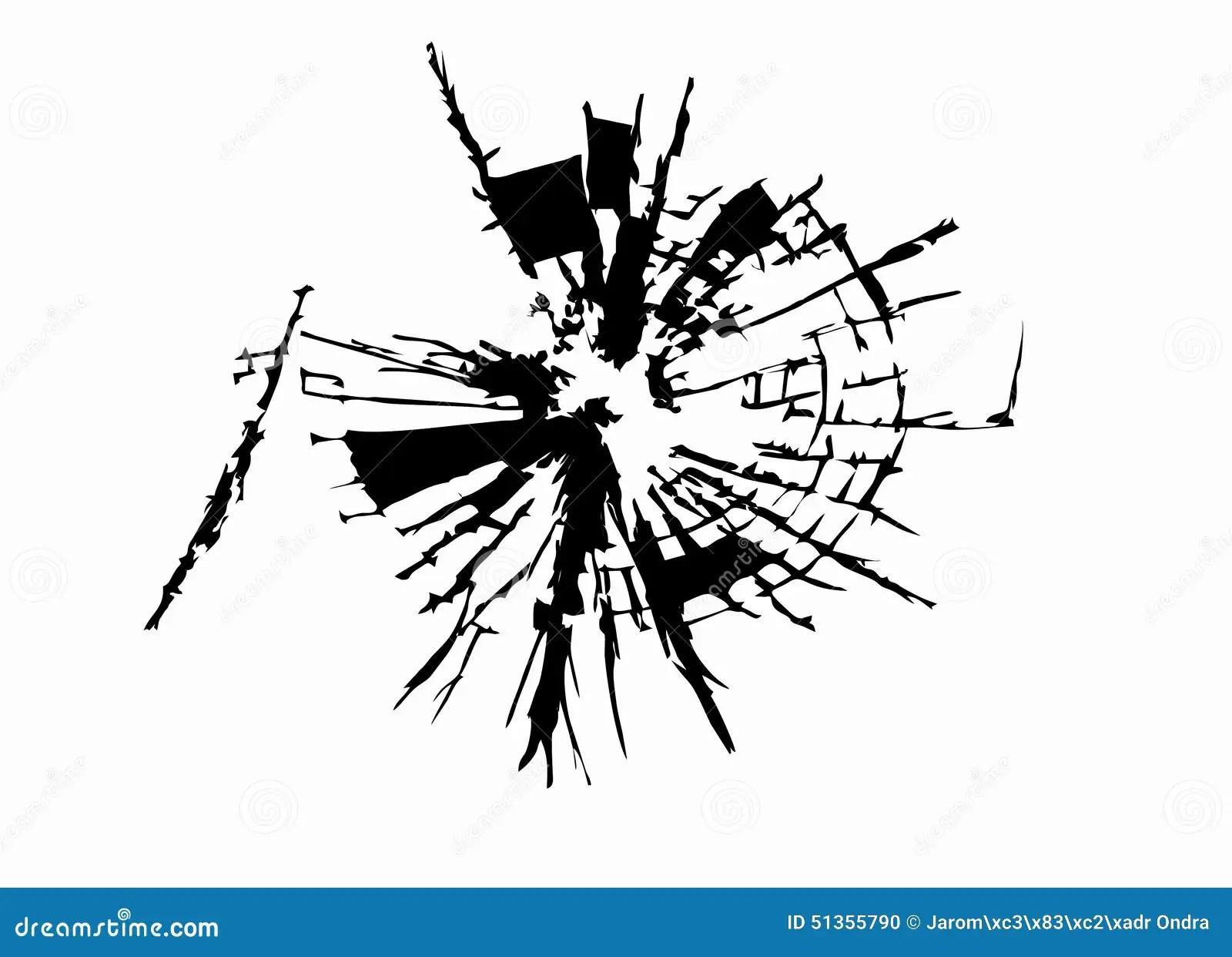 Broken Glass Vector Drawing Cartoon Vector