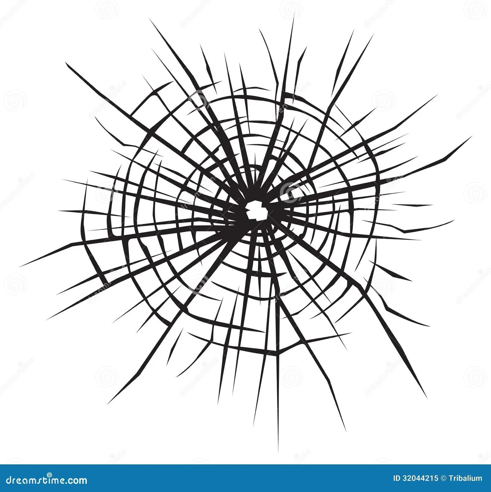 Broken Glass Vector Background Of Cracked Glass Stock