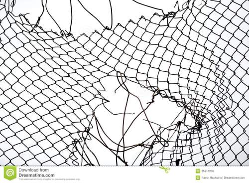 small resolution of broken iron wire fence
