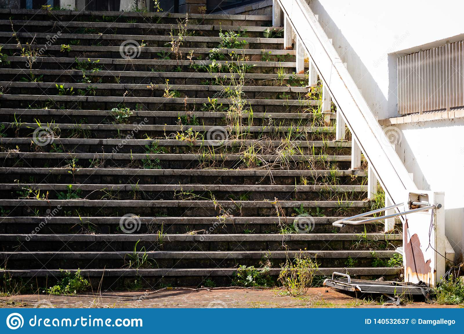 broken stairs with special