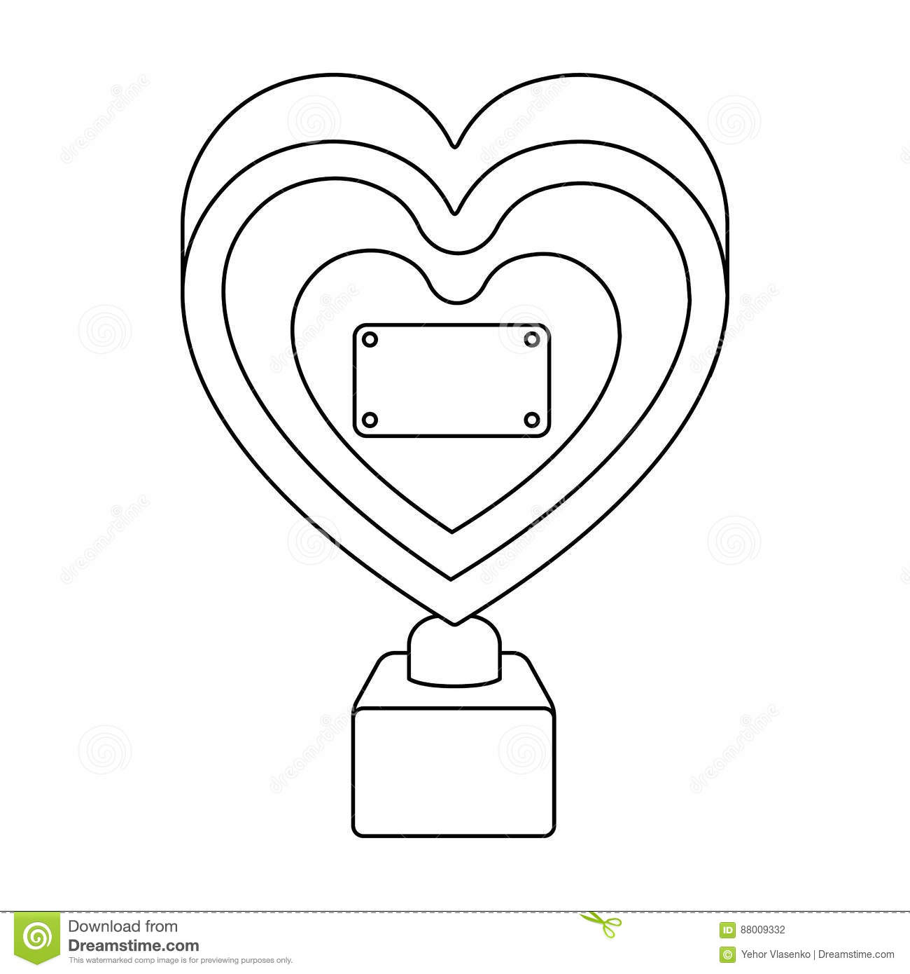 Bronze Heart In The Form Of Awards.The Audience Award For