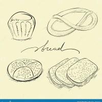 Brot, Kuchen und Brezel vektor abbildung. Illustration von ...