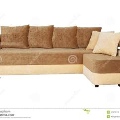 Brown And Beige Sofa Sofas In India Isolated On White Stock Photos