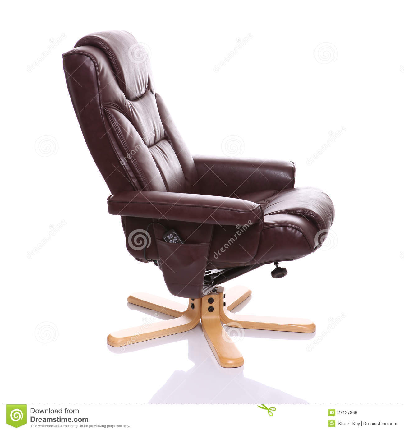 upright recliner chairs desk chair cb2 brown leather royalty free stock image