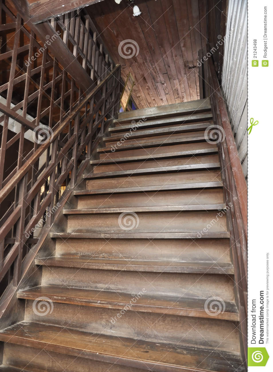 Brown Old Style Wood Ladder Home Stock Photo  Image of pillar house 21243498