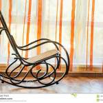 Single Brown Wicker Rocking Chair In Hall Stock Photo Image Of Empty Antique 124848894