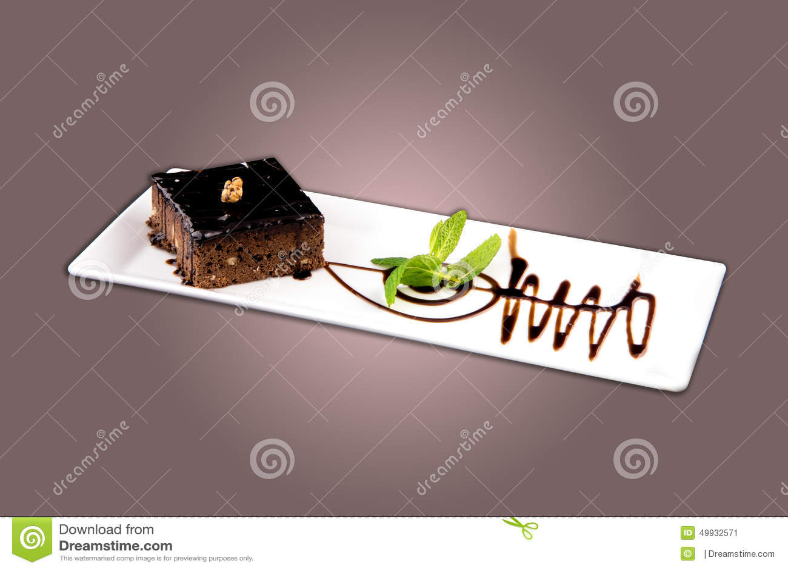 Brownie Chocolate Cake Stock Photo Image 49932571