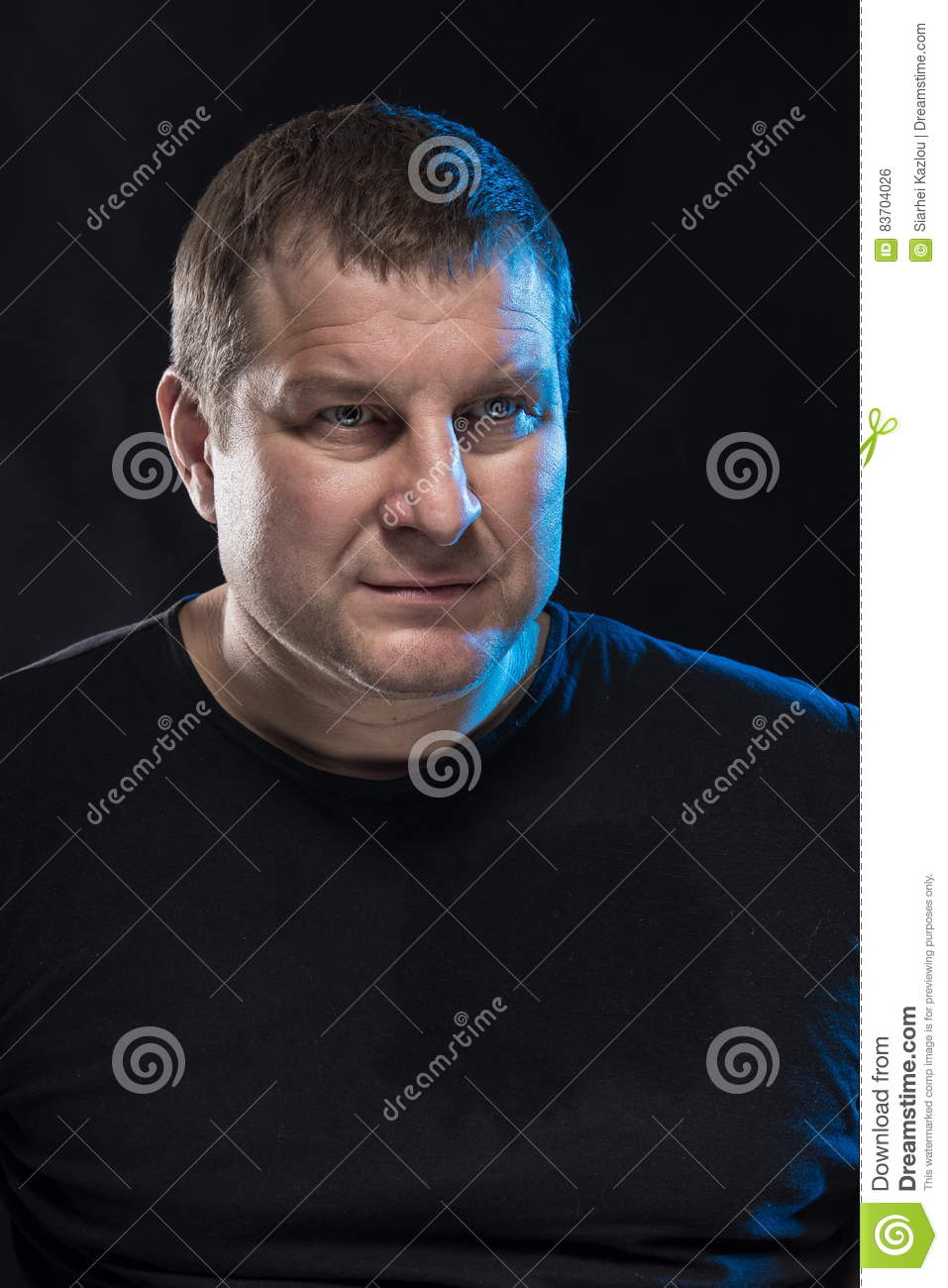 Brutal Man Actor Gesticulates And Grimaces. Stock Photo - Image of fool. beast: 83704026