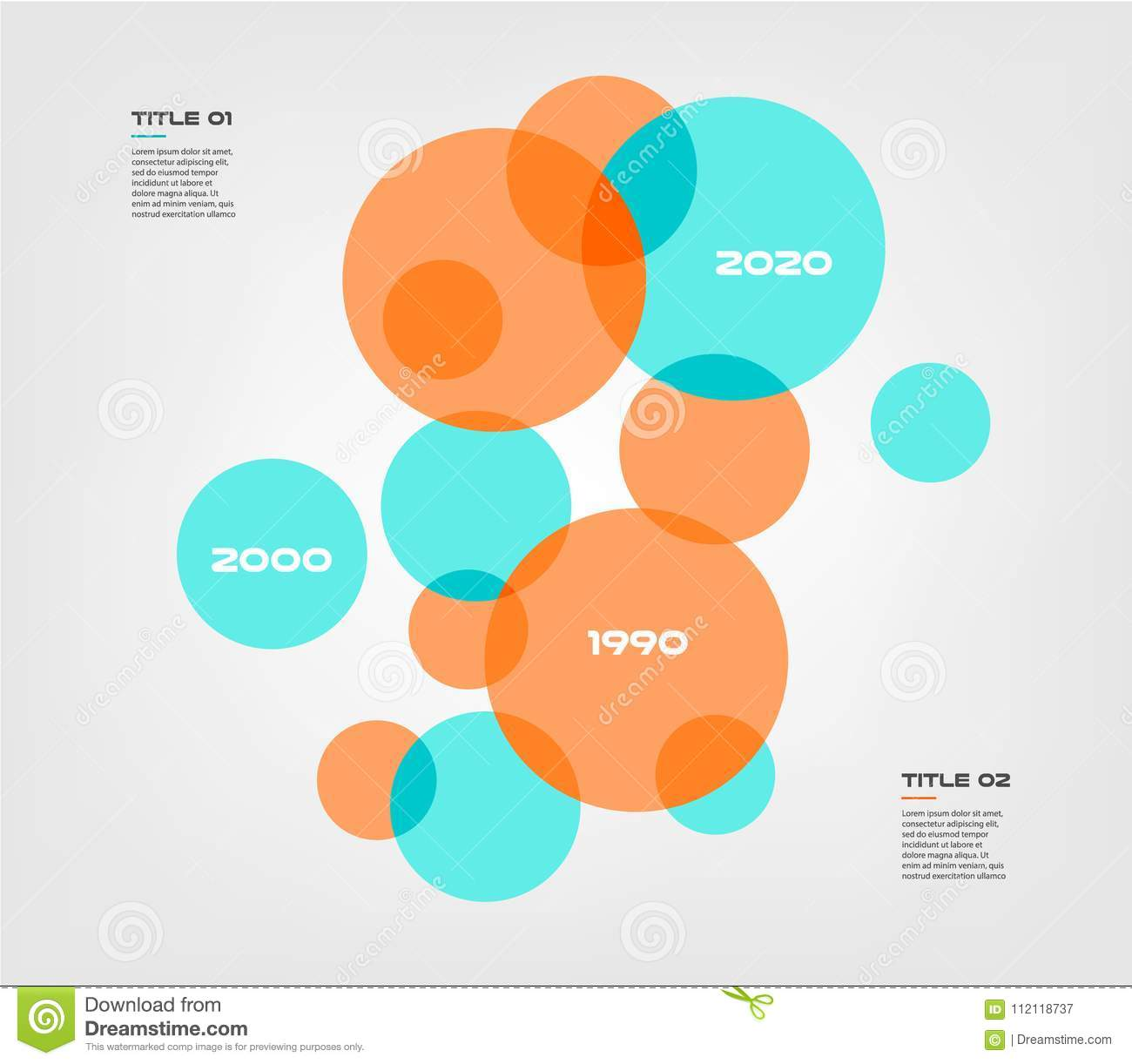 hight resolution of bubble chart with elements venn diagram infographics for three circle design vector and marketing can be