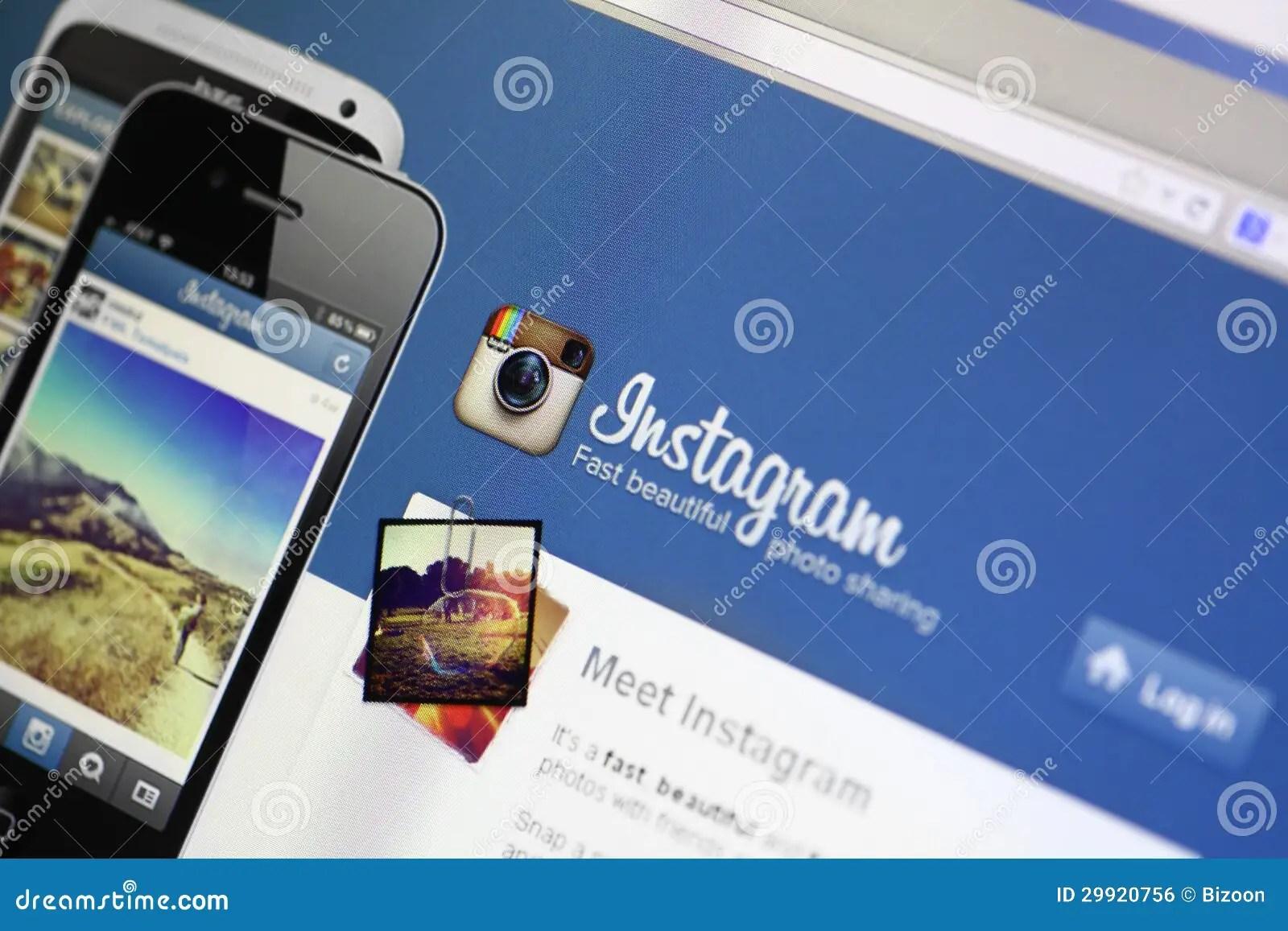 Instagram website editorial photo. Image of network. instagram - 29920756