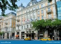 Budapest Hungary - June 3 2017 Exterior Of Corinthia